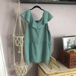 Mossimo sea foam flowy shirt
